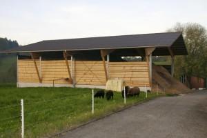 Holzschnitzellagerhalle